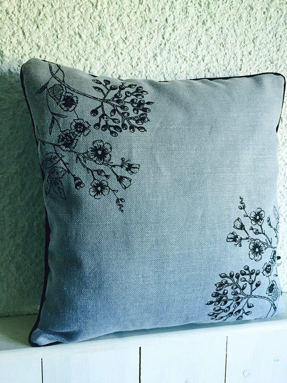 Pillows with flowers and berries