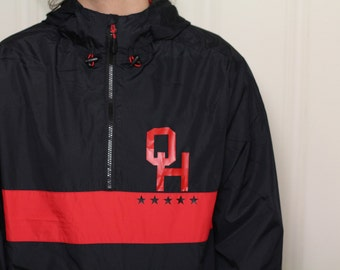 Ohio Pullover Coat (Ohio Jacket, Nylon Jacket, Ohio State Shirt)