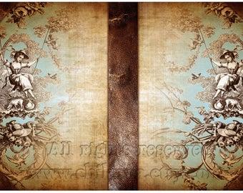 PASTUSHKA - Printable Download Digital Collage Sheet Art Book Cover Paper Craft Scrapbook