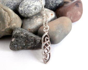 Celtic Knot Pendant - Repurposed Jewelry - Sterling Silver Necklace