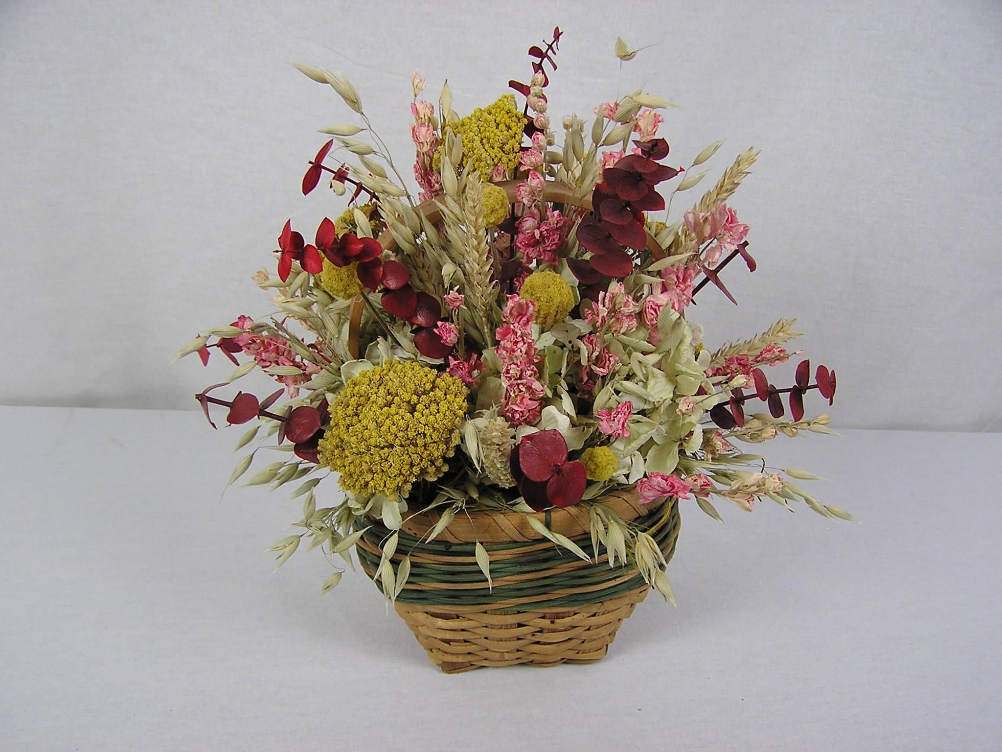 Dried Flower Arrangement, Dried Flowers, Table Centerpiece ...