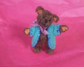 Handcrafted Miniature Bertibear - Little Binky Teddy Bear