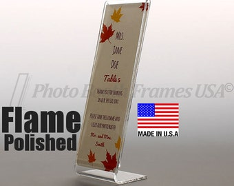 100 Photo Booth Frames, 2x6, Non-Imported, USA Made, Extra Thick Acrylic, Slant Back L Style
