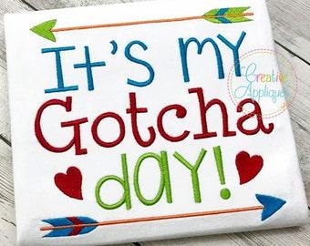 It's my Gotcha Day adoption Digital Machine Embroidery Design, adoption embroidery, gotcha day embroidery, adoption day