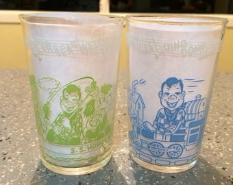 Howdy Doody Welch's juice glasses