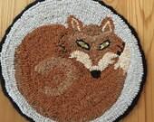 On Reserve for Crystal  - cut rug hooking wool , yarn binding material and beginner hook