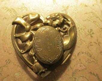 Heart Locket Brooch