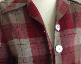 Vintage wool pendleton plaid ladies jacket M