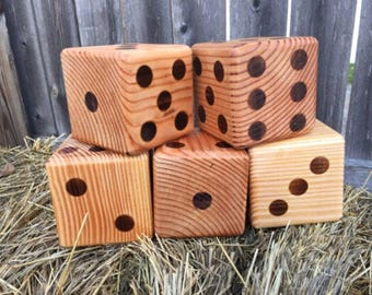 Yardzee Dice Set - Farkle Yard Game - Yard Games - Camping Games - Outdoor Family Games - Wedding Games - Dice In a Bag