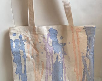 Vintage White Watercolor Tote