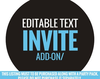 Add the Editable text Invite to your pack!