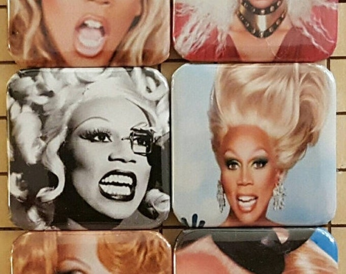 Gay Gifts, RuPauls Drag Race, Fridge Magnets, Magnets,