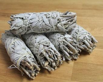 "5 Sage bundle 5"", White Sage Smudge Bundle, California White Sage Stick, Sage Smudge Wand, Sage Smudge Bundle, Sage , Sacred Plant Smoke"