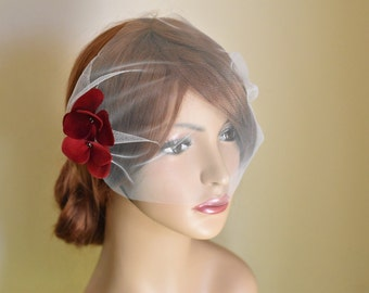 Birdcage veil, birdcage veil ivory, tulle birdcage veil, blusher veil, bridal blusher, bridal veil, wedding birdcage, wedding veil