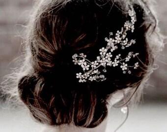 free shipping crystal wedding hair clip bridal crystal hair comb rhinestone hair clip