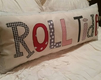 Made to Order - University of Alabama 'Roll Tide' Applique Pillow