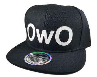 OwO What's This? Face Snapback Trucker Cap Hat