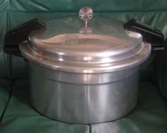 MIRRO 12 Quart Pressure Canner Cooker Polished Aluminum  M-5012