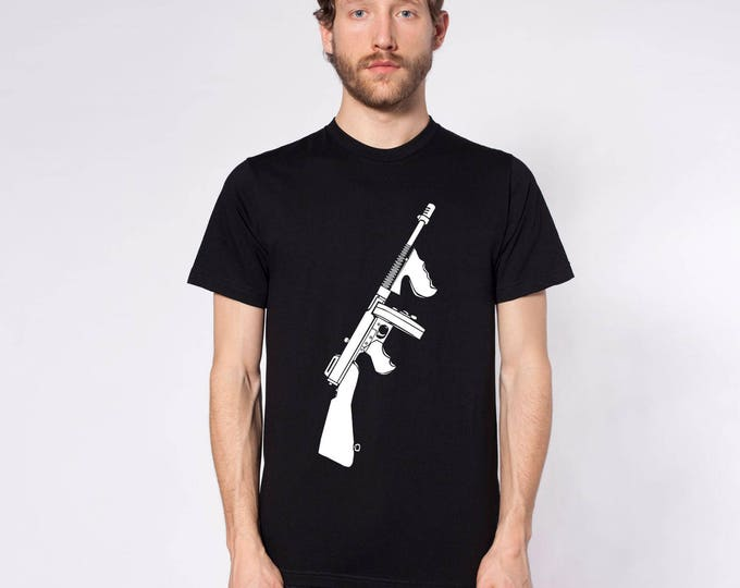 KillerBeeMoto: Limited Release Thompson Sub Machine Gun Model 1921 Short or Long Sleeve Shirt