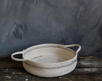 Short Rope basket, Cotton rope basket , Storage basket, Basket, Bowl ,Pannier