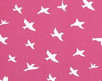 """Cute Bird Silhouette Printed Cotton Fabric 54"""" wide.......8 colors to choose....Drapery OR Upholstery........NEW"""