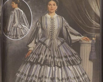 Simplicity 9761 Misses Civil War Costumes. Size HH 6,8,10, 12 and RR 14-16-18-20. Vintage 2000