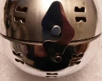 Vintage ornament, silver plated potpourri holder, cricket cage
