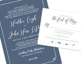 Modern & Geometric / Romantic Wedding Invitation | Graphic and Bold | DIY Option Available | Invitation | RSVP | Info Card #1170