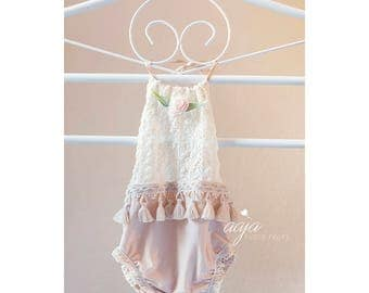 Lace romper dress size 12 girls