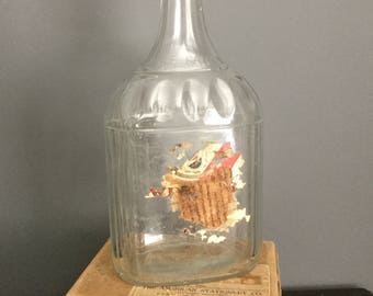 Large vintage LaSalle clear wine bottle  collectible
