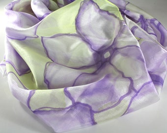 Women's scarves - Hand painted silk scarf - Luxury scarves - Spring summer scarves -  Natural silk scarf