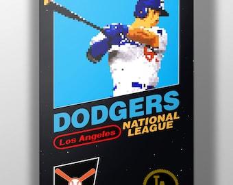 Los Angeles Dodgers Retro NES Box Art Print- Joc Pederson