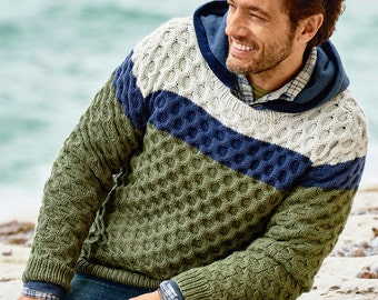 Men's Crewneck  Sweater,v-neck sweater,men turtleneck hand knitted sweater,cardigan pullover men clothing handmade men knitting cabled