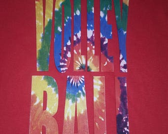 SALE Volleyball Tie Dye T-Shirts