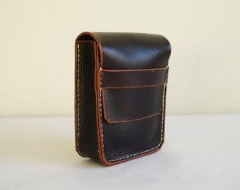 Leather Belt Pouch Cigarettes Case Belt Bag Hip Pouch Hip Bag Small Leather Bag Belt Purse