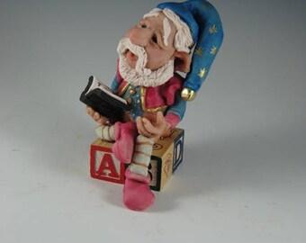 "OOAK Elf Sculpture/Fantasy Sculpture/Fairy/""Tobias Tells a Tale"""