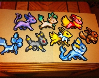 Pokemon Eeveelution Perler Bead Sprites