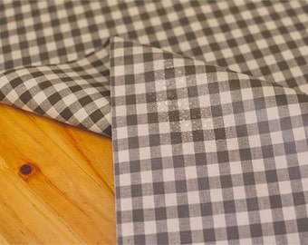 Laminated Cotton Fabric 1 cm Brown Plaid By The Yard