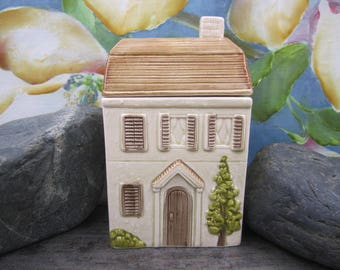 Vintage  Otagiri  ceramic house candy/cookie jar