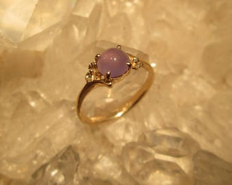 Oregon Holley Blue Ring ~14K Gold Hand Cast~  Beautiful Natural Lavender Agate