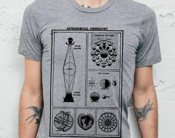 Astronomy T Shirt - Star Chart Shirt // Mens TShirt - Mens Tee Shirt - Retro T Shirt // Gift for Men - Astronomy Gifts - Astronomy Print