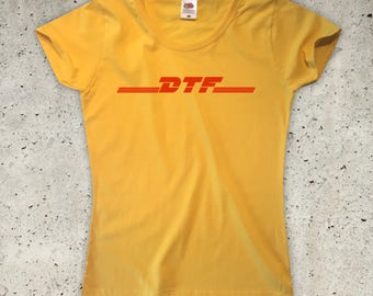 DTF T-Shirt - Yellow - Womens XS S M L XL