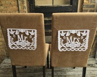 Mr + Mrs/Mr + Mr/Mrs + Mrs Chair Sign