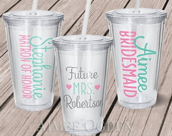 Bridal Party Decal - Future Mrs. Decal - Bridesmaid Maid of Honor Decal - Wedding Party Decal - Bachelorette Decal DIY Tumbler Decal