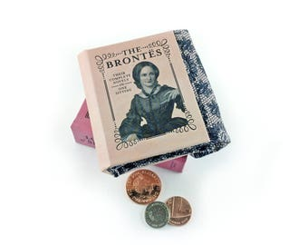 Brontë sisters, The Brontës, Charlotte Brontë, Emily Brontë, Anne Brontë, Brontë gift, Teeny tiny coin purse, Wuthering Heights, Jane Eyre