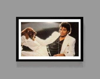 Michael Jackson Music Poster Thriller Print - King of Pop, Icon, Classic, Vintage, Retro, 80's