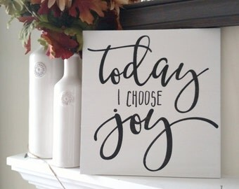 Today I Choose Joy Wood Sign | Wood Sign | Home Decor | Wall Hangings | Wall Sayings | Choose Joy | Gallery Wall | Handmade | Gifts