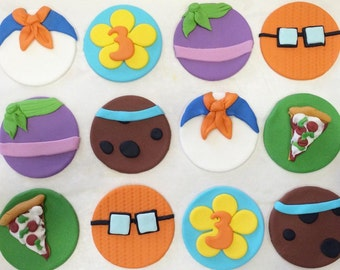 12 scooby doo cupcake toppers