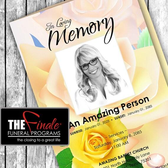 The Word Amazing: The Amazing Yellow Rose ... Printable Funeral Program