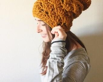 Crochet slouchy beanie pattern | Miranda Beanie crochet pattern | adult slouchy hat | womens hat | womens beanie